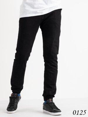 Черные мужские деми джинсы, мужские джинсы джоггеры