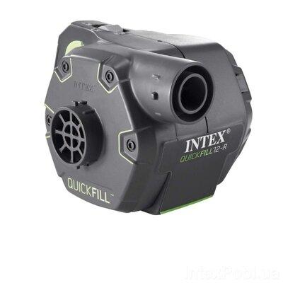 Електричний насос для надування Intex 66642 акумуляторний, що перезаряджається 12 V, 220 V, 600 л /