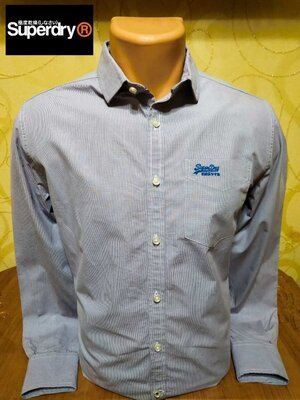Практичная эстетичная рубашка в мелкую клетку уникального британского бренда Superdry. пр-во Индия.