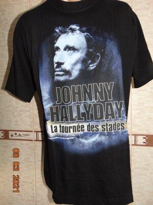 Катоновая стильная футболка Rock .Johnny Hallyday.Rockbox .л .