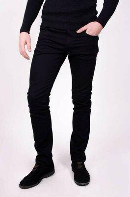 Коттоновые черные мужские джинсы скинни Denim cо, 32 pазмер.