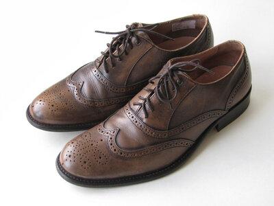 Кожаные туфли броги soviet р.42