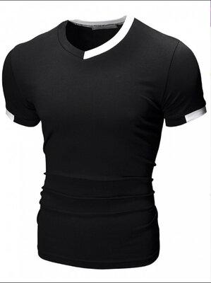 Стильна футболка Біла/чорна SlimFit - 215 рн