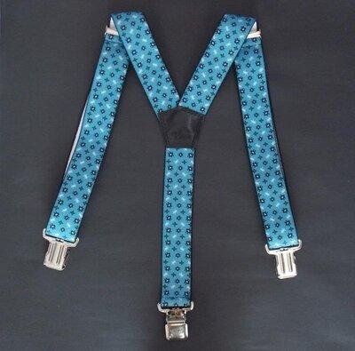 Мужские широкие подтяжки синие арт. 660