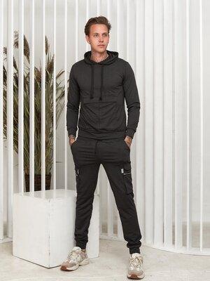 Мужской спортивный костюм 5 карманов трикотажный демисезонный мужские спортивные костюмы с карманами