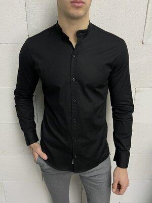 Рубашка однотонная чёрная