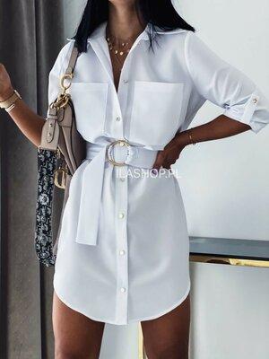 Женское платье-рубашка короткое
