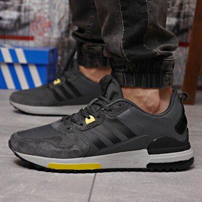 Кроссовки мужские 18281 Adidas Zx 700 HO, темно-серые