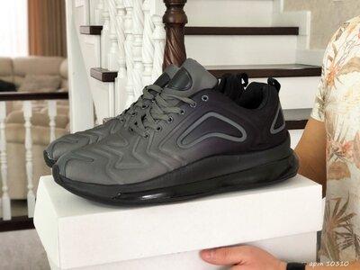 Max 720 кроссовки мужские демисезонные большие размеры серые с черным 10310