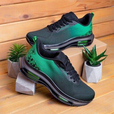 Кросівки чоловічі Діфено Wild Rose чорно-зелені В01942