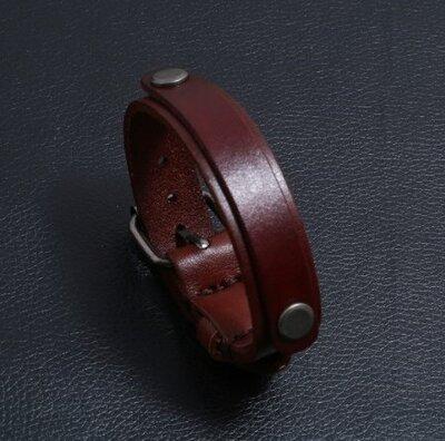 Браслет мужской кожаный на руку