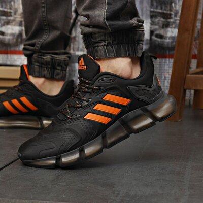 Кроссовки мужские Adidas Climacool Vento Shoes, черные с оранжевым