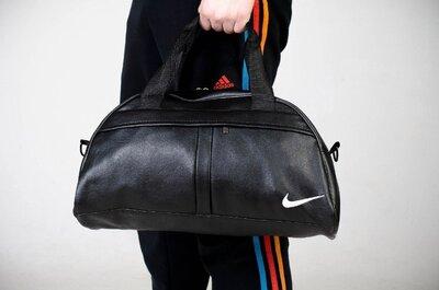 Мужская сумка кожзам черный Nike
