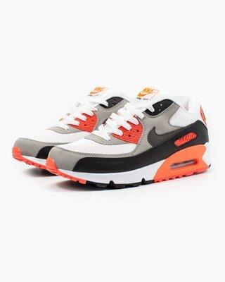Мужские Кроссовки Nike Air Max 90 White Red Black AAA 40-41-42-44-45