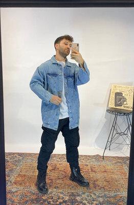 Удлиненная джинсовка оверсайз