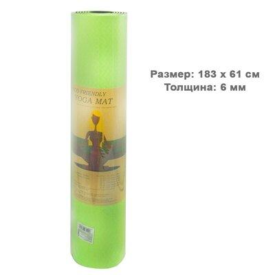 Йогамат 6 мм Килимок для йоги, зелений BT-SG-0006 коврик каримат