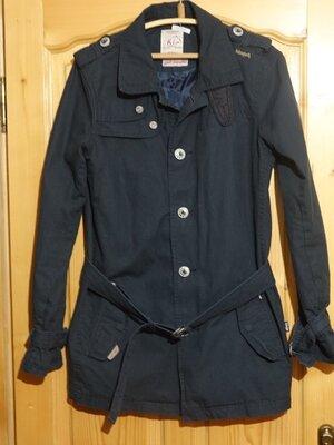 Классная винтажная удлиненная х/б куртка цвета маренго Khujo Германия M.