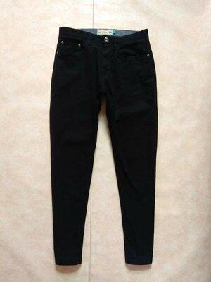 Коттоновые черные мужские джинсы скинни Next, 30 pазмер.