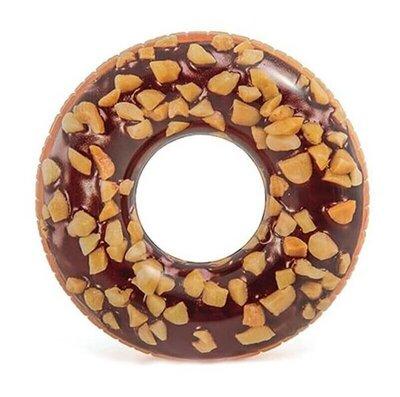 Надувной круг Шоколадный Пончик 114 см, Intex 56262