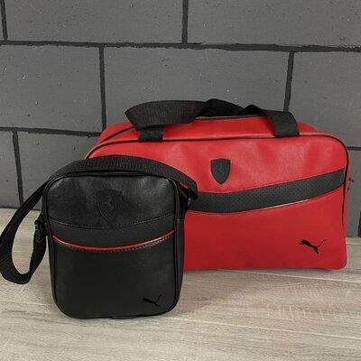 Мужской комплект сумка Puma плюс барсетка Puma