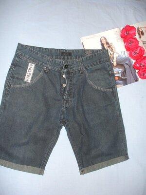 шорты мужские джинсовые W 32 размер 46 синие