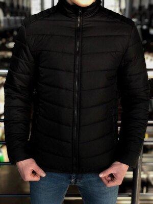 Мужская Весенняя чёрная куртка пуховик Осень