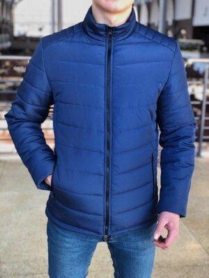Мужская Весенняя синяя куртка пуховик Осень