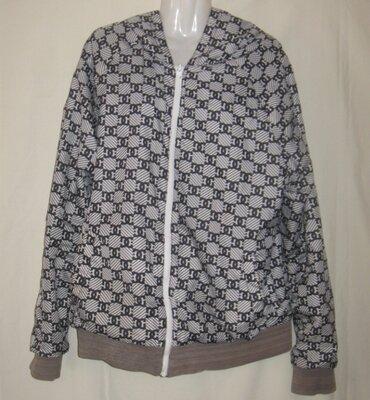 Куртка деми, мужская оригинальная, двухсторонняя. 48-50 размер, см мерочки Пог 58 см