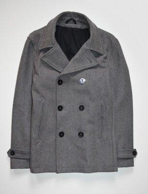 Продано: Мужское шерстяное двубортное пальто Next