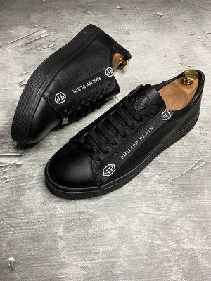 Мужские кожаные кроссовки кроссы демисезонные кеды спортивные качественные для спорта прогулочные