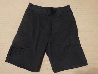Плотные черные рабочие х/б шорты карго с функциональными карманами Benchmark Сша 30 р.