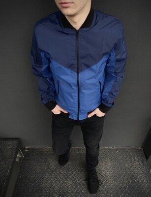 Бомбер Весенний мужской синий