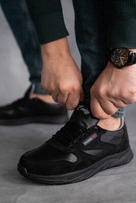 Крепкие мужские кроссовки, натуральная кожа нубук