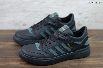 Мужские кожаные кеды Adidas, код AD 25 чс