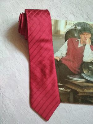 Актуальный, брендовый однотонный шелковый галстук 100% шелк thomas nash