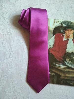 Стильный, однотонный, брендовый шелковый галстук 100% шелк slopes