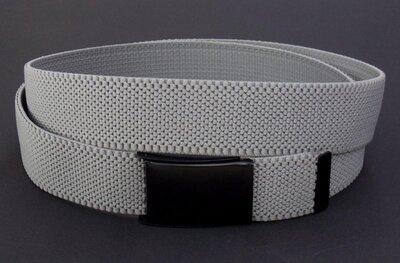 Мужской тканевый ремень серый удлиненный 135 см польша