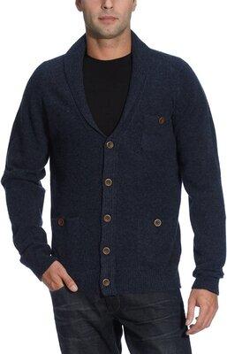 Кардиган PLECTRUM by Ben Sherman Shawl Collar Wool Cardigan