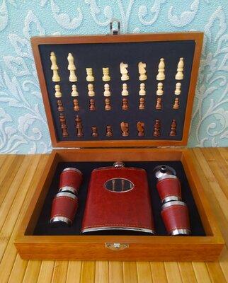 Продано: Подарок набор для мужчины шахматы фляга для охотника