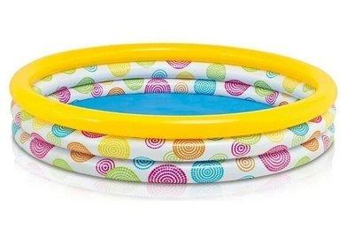 Детский надувной, круглый бассейн Intex для малышей «Геометрия» 58449 размер 168 38 см объем 581