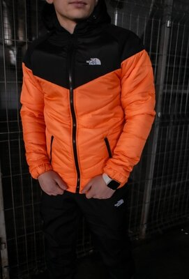 Куртка TNF черно- оранжевая
