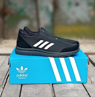 Мужские кроссовки Adidas Running черные,весенние