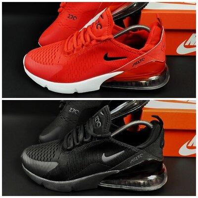 Кроссовки Nike Air Max 270 р. 41-46 красные и черные новинка