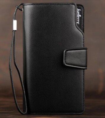 Вместительный стильный кошелек, портмоне Baellerry Business черный