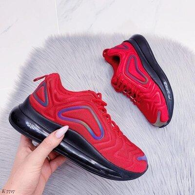 Красные женские кроссовки в стиле Nike Air, кроссовки Nike женские, кросівки 36-41р код 7717