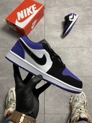Мужские Кроссовки Nike Air Jordan 1 Low Violet Black AAA 41-42-44-45