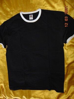 Стильная катоновая фирменная футболка fruit of the loom.л-хл .