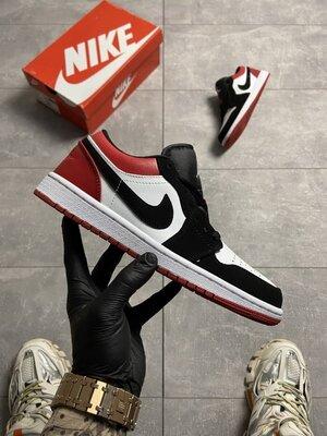 Мужские Кроссовки Nike Air Jordan 1 Low Red Black AAA 40-41-42-43-44-45