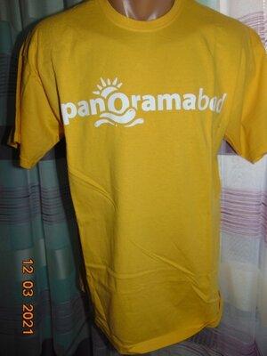 Стильная катоновая футболка . fruit of the loom м -л .унисекс .