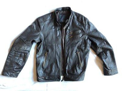 Куртка-Бомбер Zara,натуральная кожа